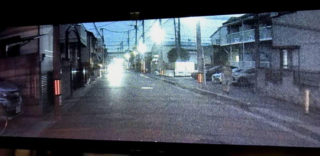 夕方のリアカメラの画像