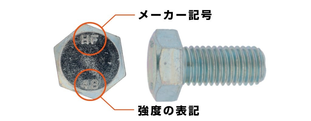 ボルトの頭部刻印の説明