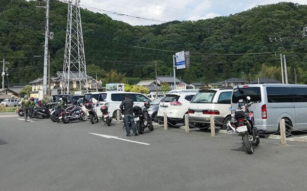 バイクの駐車スペース