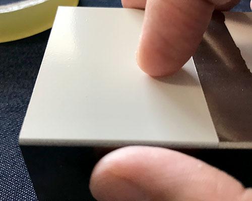 鉄にミッチャクロン塗布_爪カリカリテスト
